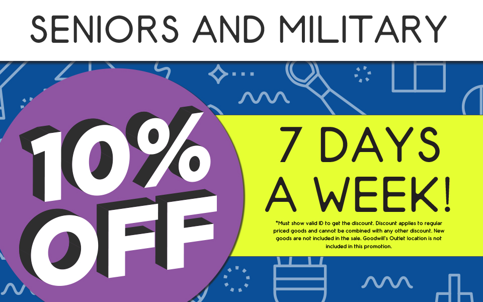 New Military and Senior Discount 2019
