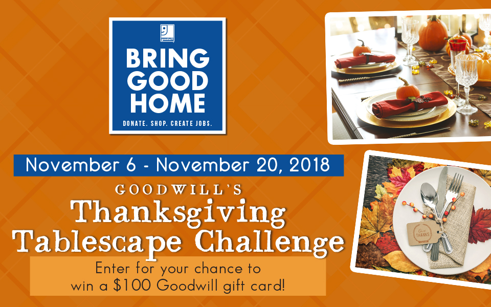 Thanksgiving Tablescape Challenge Nov 2018