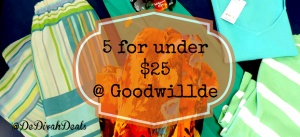 5 for under $25 @goodwillde