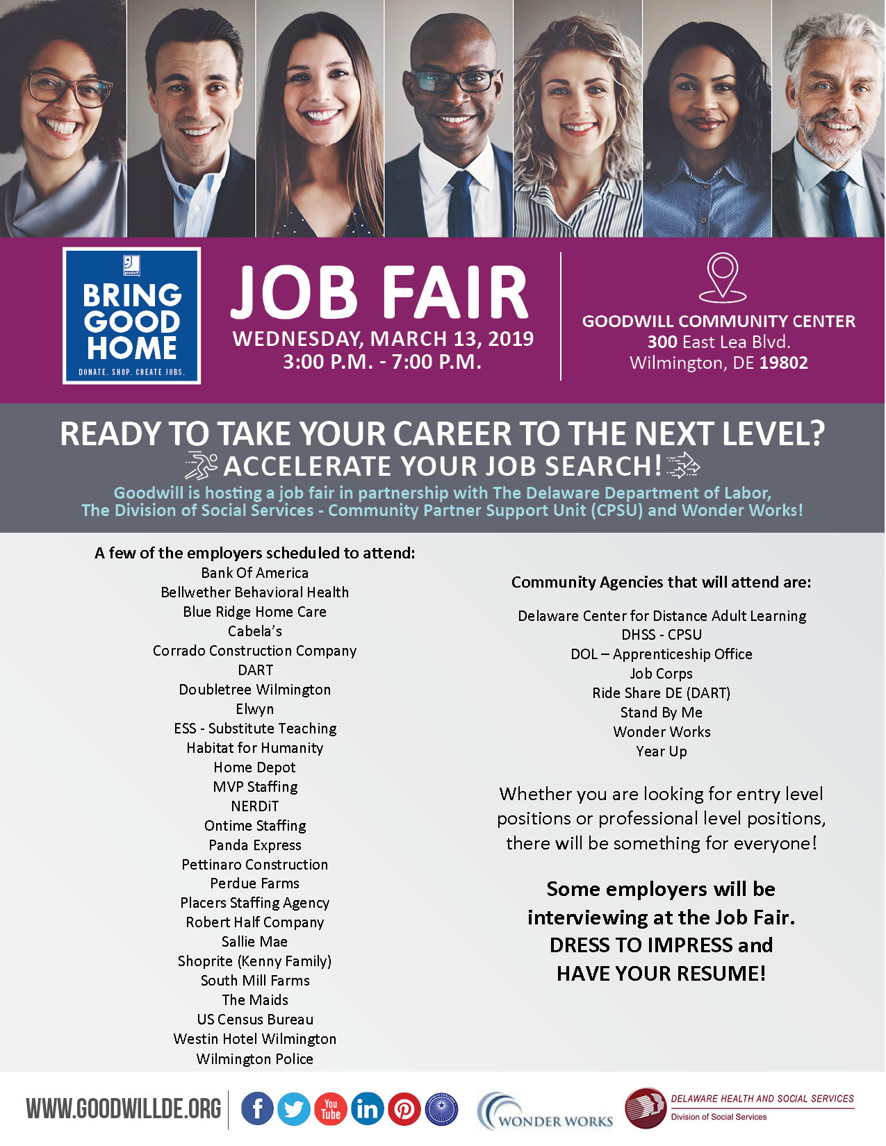 Job Fair At The Goodwill Center In Wilmington De Goodwill Of Delaware And Delaware County Pagoodwill Of Delaware And Delaware County Pa